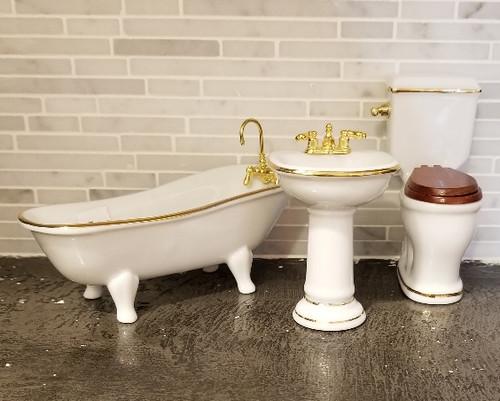 Reutter Porzellan - Classic White  3 Pc. Bath Set