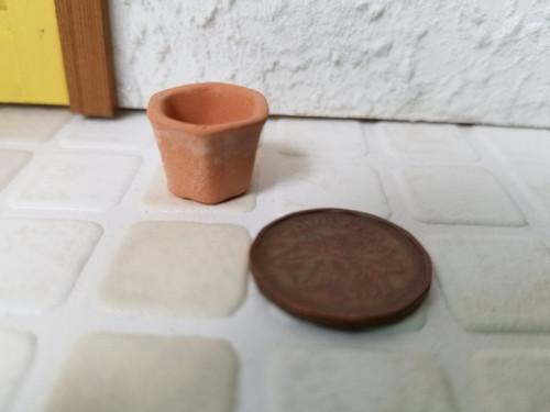 Small Hexagon Clay Planter