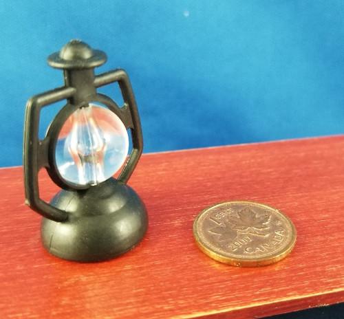 1/12 Scale Black Plastic Lantern