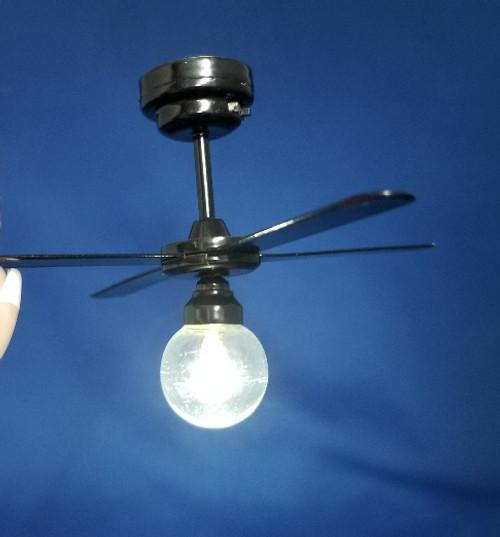 LED Black  Ceiling Fan LIght - Battery Operated