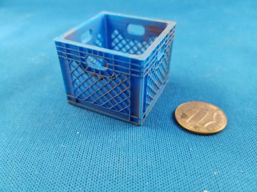 Dirty Milk Crate - Blue