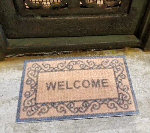 Welcome Mat-Fancy Border