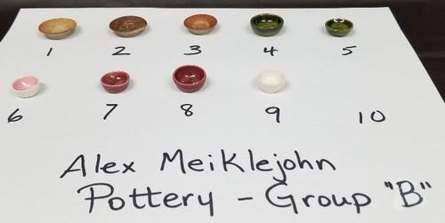 Alex Meiklejohn Pottery - Group B