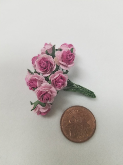Two Tone Pink Paper Roses