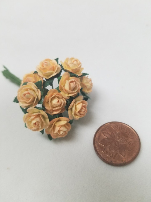 Two Tone Peach Paper Roses