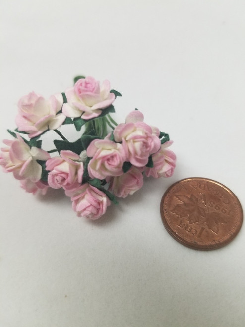 Pink & White Paper Roses