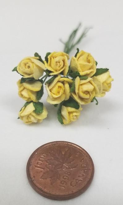 Yellow Half Open Paper Roses