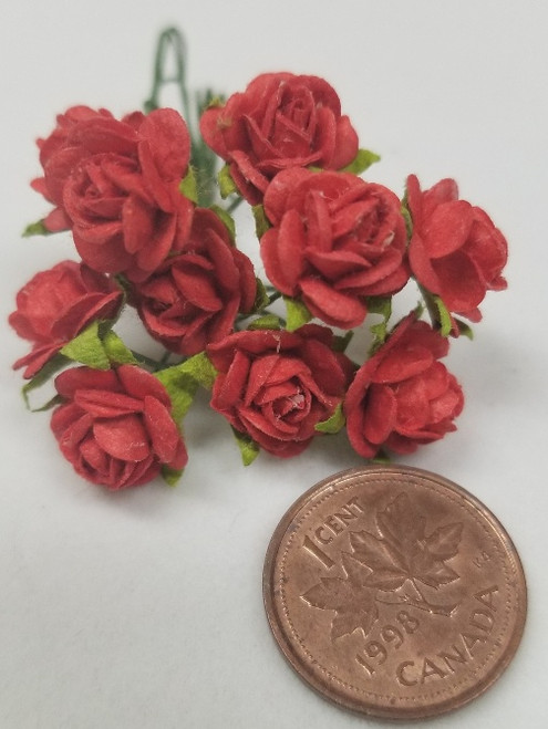 Bright Red Paper Roses