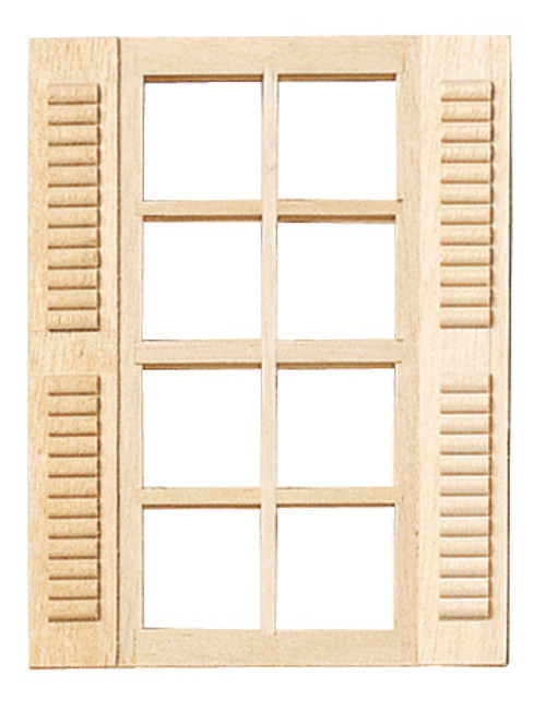 1/24 Scale Miniature  Window with Shutters