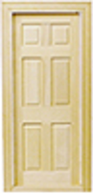 1/24 Scale Miniature  6 Panel Door