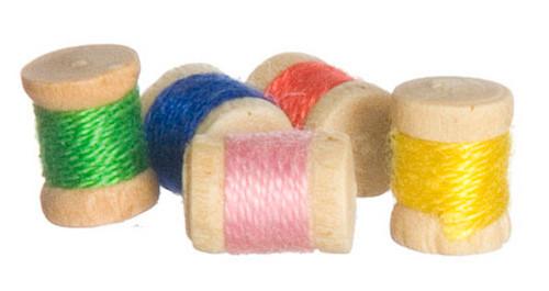 Miniature Spools of Thread - 5 pcs.