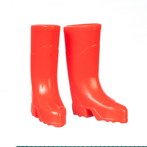 Miniature Red Rubber Boots