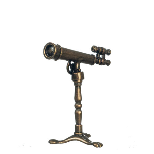 Miniature Antique Telescope on Stand