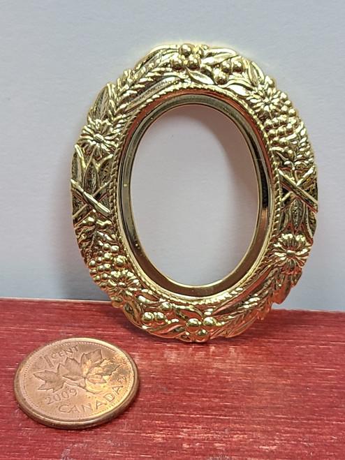 Miniature Oval Gold Frame