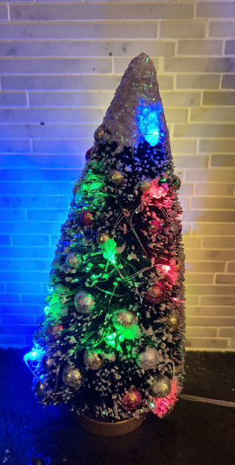 Miniature Christmas Tree with Working Lights