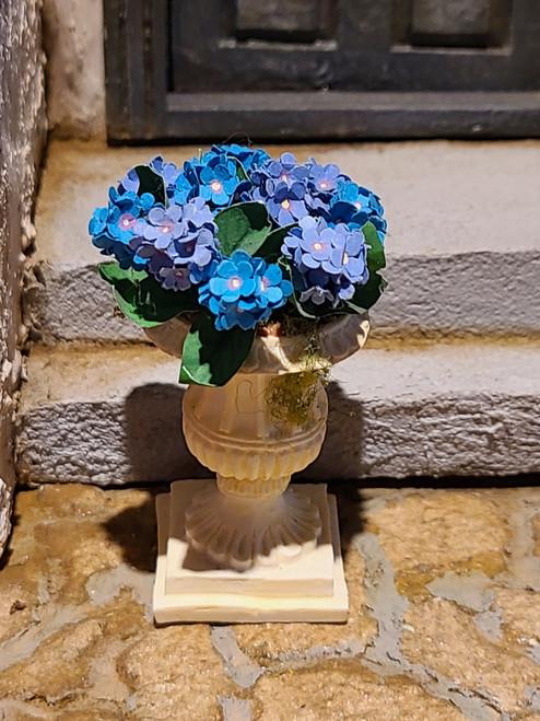 Miniature Blue Hydrangea in Planter