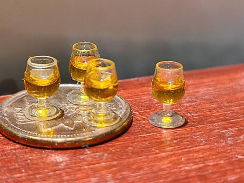 Miniature 1/24 Scale Set of Four Glasses