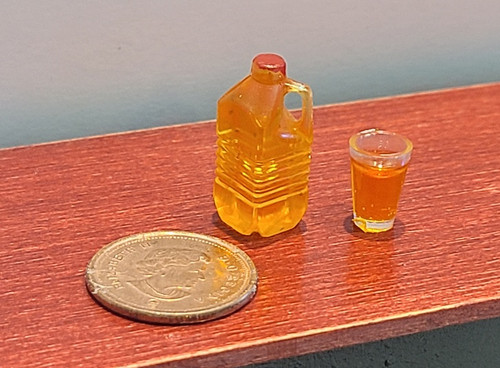 Miniature Jug & Glass of Apple Juice
