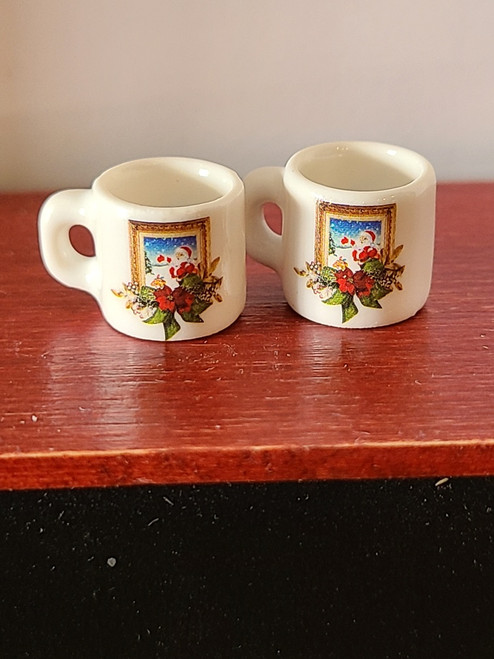 Pair of Miniature Christmas Cups - Frame