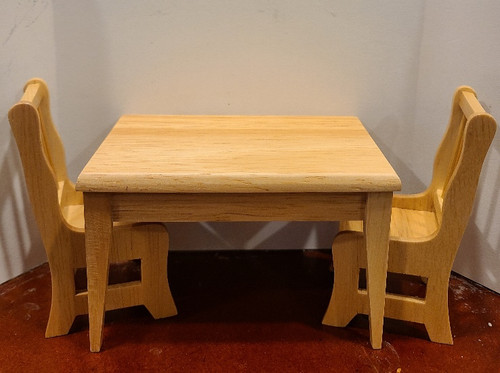 Miniature Kitchen Table & Two Chairs