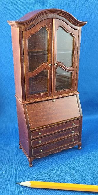 1/12 Scale Miniature Walnut Secretary