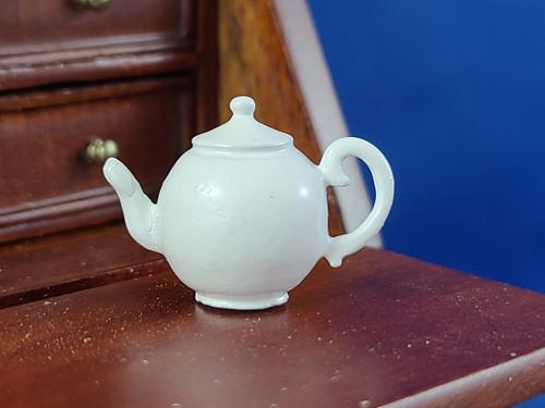 1/12 Scale Miniature White Metal Tea Pot