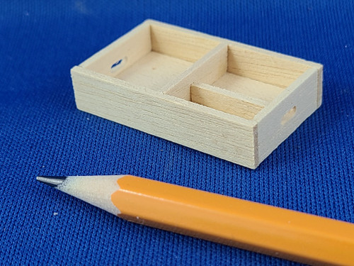 1/12 Scale Wooden Tray (multi-use)