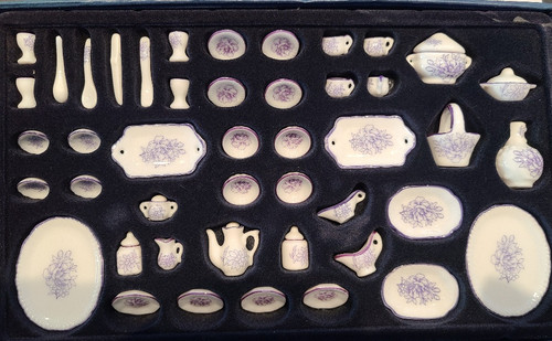 1/12 Scale 51 pc. Porcelain Dish Set
