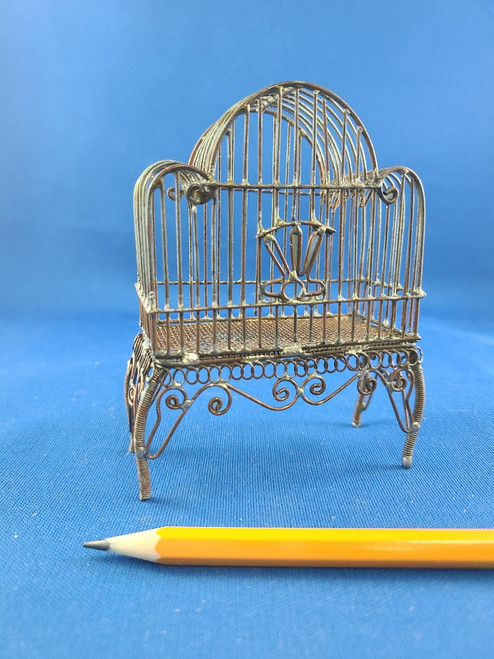 1/12 Scale Miniature Bare Wire Bird Cage