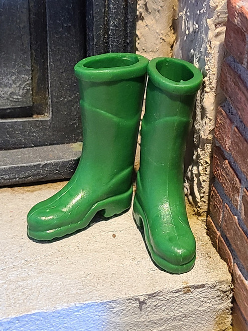 1/12 Scale Green Rubber Boots