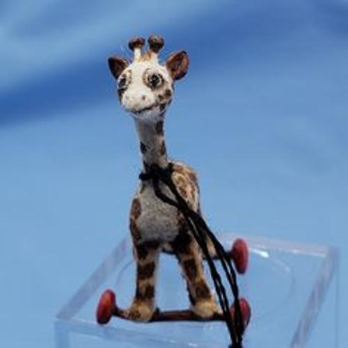 "Aleah Klay Character - Giraffe Pull Toy(1 1/4"" tall)"