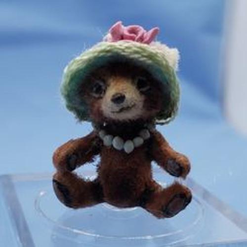 "Aleah Klay Character - Bear in Hat(7/8"" tall)"