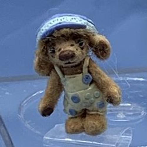 "Aleah Klay Character - Mini Bear with Blue Hat (3/4"" tall)"