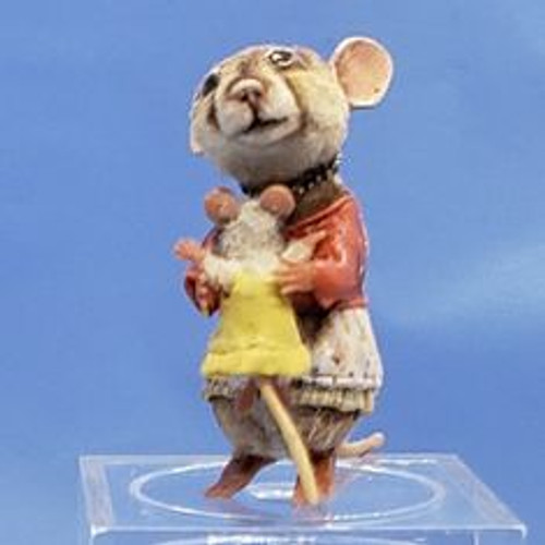 """Aleah Klay Character - Mama & Baby Mouse(1"""" tall)"""