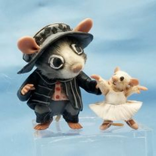 """Aleah Klay Character -Mouse with Ballerina (1 1/16"""" tall)"""