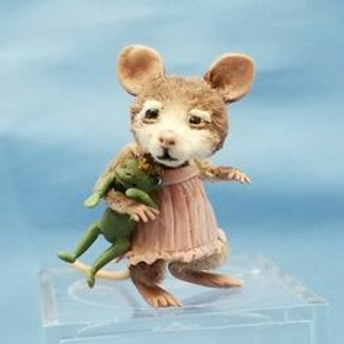 """Aleah Klay Character - Girl Mouse with Frog Prince (1"""" tall)"""
