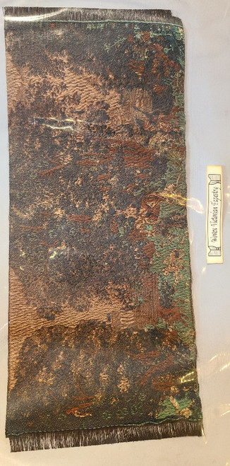 "1/12 Scale  Miniature Aged Area Rug 8 1//4"" x 3 5/8"""