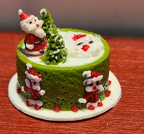 1/12 Scale Fancy Decorated Cake -Christmas 3D Cake
