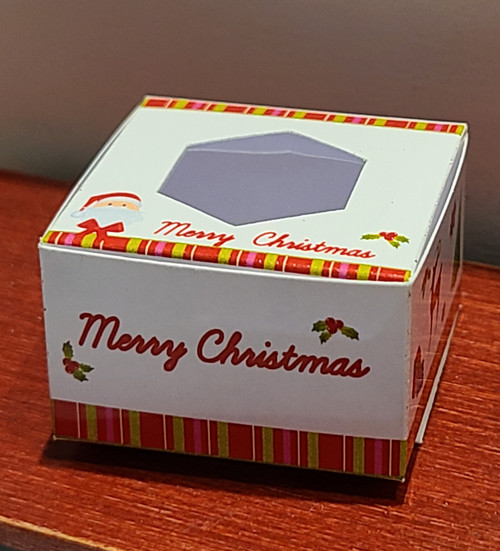1/12 Scale Folding Paper Christmas Cake Box