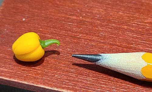 1/12 Scale Handmade Yellow Pepper