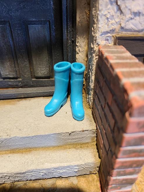 1/12 Scale Light Blue Rubber Boots