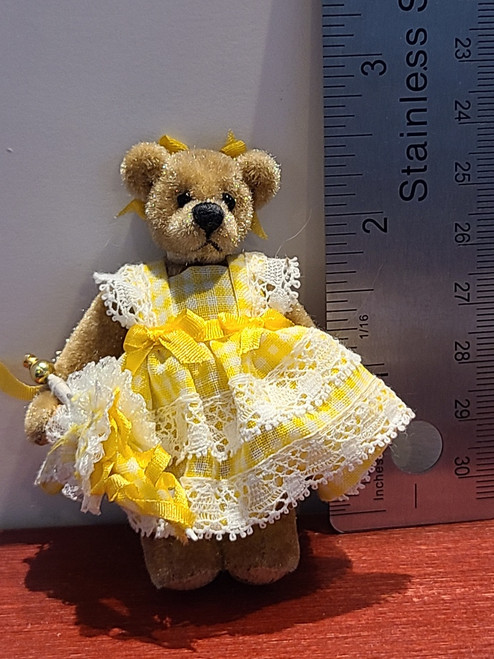Teddy in Yellow Dress with Parasol