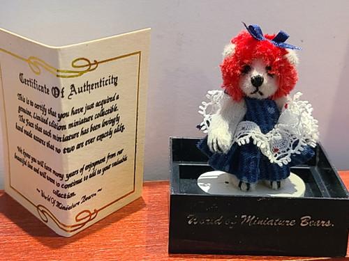 Teddy Bear with Red Hair