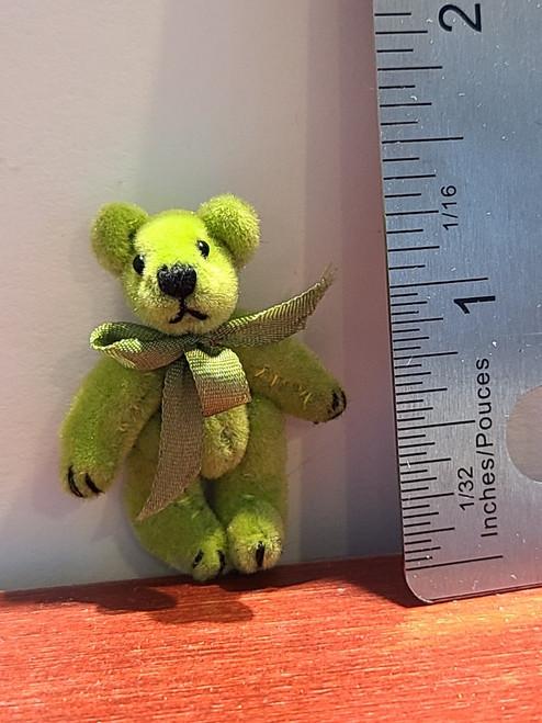 Miniature Olive Green Teddy Bear