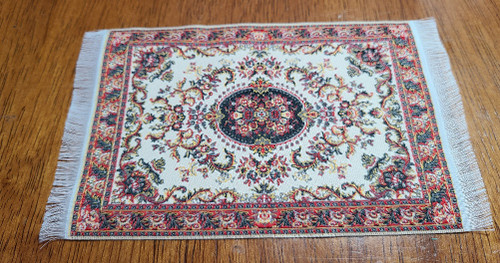 "Rust Tones 1/12 Scale  Miniature Area Rug 3 7/8"" x 6 1/4"""