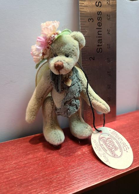 """Miniature  """"Willow Fairy"""" Teddy Bear  -2 3/4"""" Tall"""