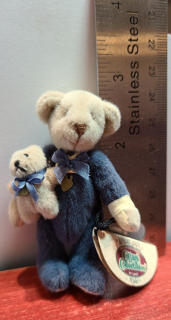 """Miniature  """"Kyle"""" Teddy Bear  -2 3/4"""" Tall"""