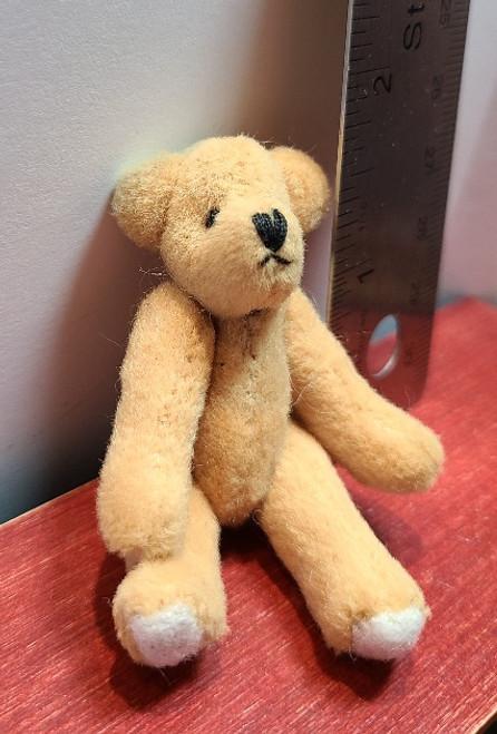 "Handcrafted Miniature Teddy Bear -2 1/2"" Tall"