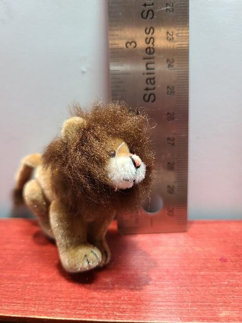 """Miniature  Stuffed Lion -2 1/4"""" Tall"""
