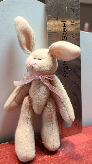 """Handcrafted Miniature Brown Bunny - 4"""" Tall"""